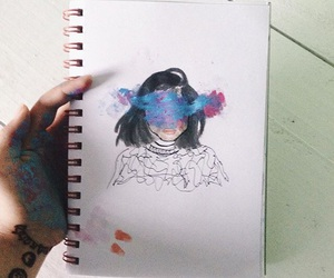 art, kylie jenner, and drawing image