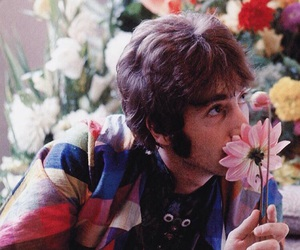 john lennon, flowers, and the beatles image