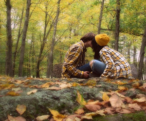 fall, love, and leaves image