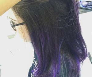 cool, hair, and purple hair image