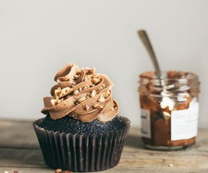 cupcakes, nutella, and food image