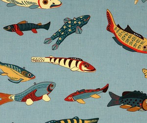fish, background, and pattern image