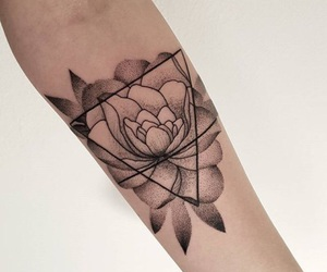 flower, tattoo, and flowet image