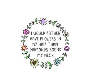 flower, word, and quotes image