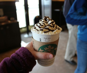 starbucks, chocolate, and coffee image