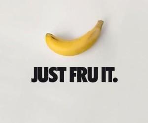 fruit, banana, and nike image