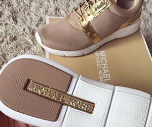 shoes, Michael Kors, and gold image