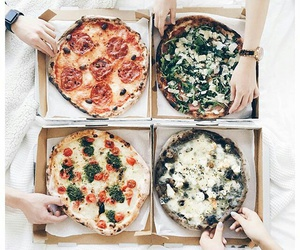 food, pizza, and delicious image