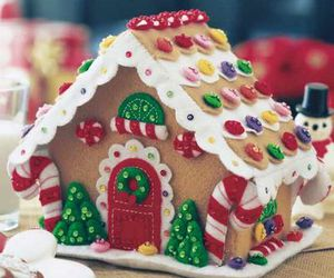 gingerbread, gingerbread house, and winter image