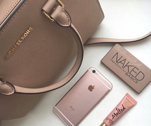 iphone, Michael Kors, and rose gold image