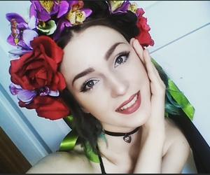 beauty, polish girl, and flower crown image