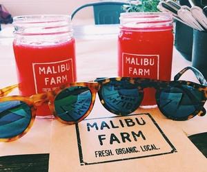 drinks, glasses, and malibu image