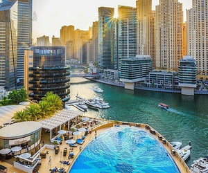 Dubai, lake, and marina image