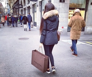 girl, shopping, and style image