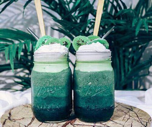 drink, green, and food image