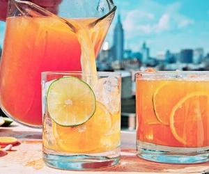 drink, summer, and orange image