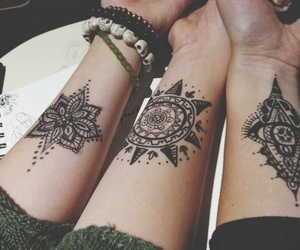 tattoo, friends, and henna image