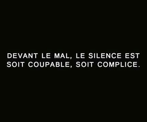 silence sagesse le mal image