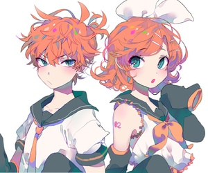 twins, len, and vocaloid image