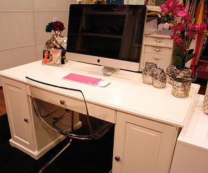 desk, imac, and office image
