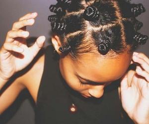 bantu knots, girl, and tumblr image