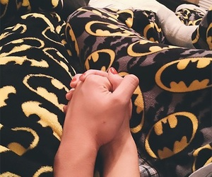 batman, bed, and black image