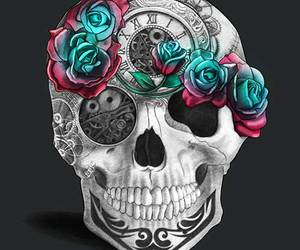 skull and blue image