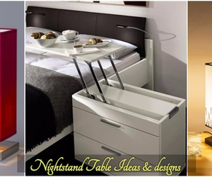 nightstand, night table, and night stand ideas image