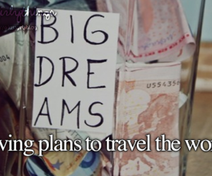 Dream, girl, and travel image