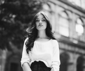 beauty, black and white, and hair image
