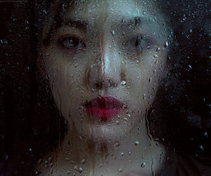 asian, girl, and rain image