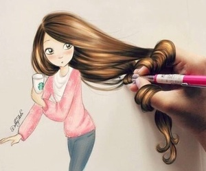 art, draw, and hair image