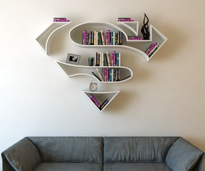 superman, book, and home image