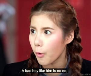 bad boy, drama, and love image