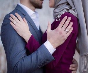 couple, girl, and hijab image