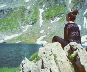 black clothes, nature, and transfagarasan image