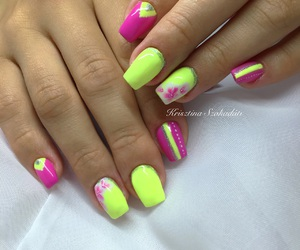 colorful, nails, and nailart image