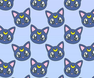 wallpaper, cat, and sailor moon image