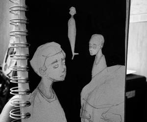 art, cool, and depression image