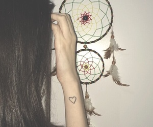dream catcher, dreams, and girl image