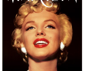beautiful, marilyn, and red lips image