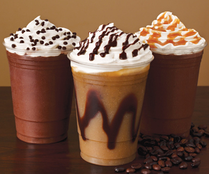 chocolate, caramel, and coffee image