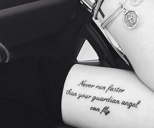 tattoo, angel, and quote image