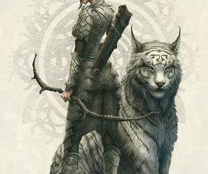 fantasy, elf, and tiger image