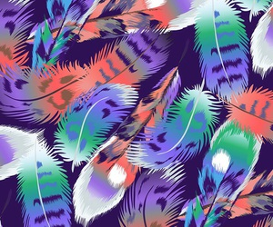 wallpaper, art, and feathers image