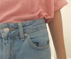 pink, grunge, and jeans image