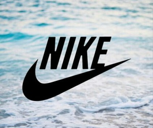 nike, wallpaper, and beach image