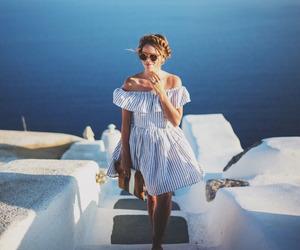 girl, Greece, and summer image