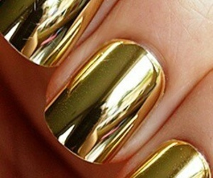 nails, gold, and golden image