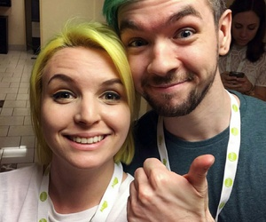 green hair, yellow hair, and cute image